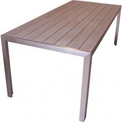 Havebord med vedligeholdelsesfri overflade og aluminiumsstel- køb Firenze 205 her!