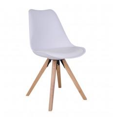 Bergen Spisebordsstol - hvid/natur