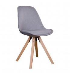 Bergen Spisebordsstol - Lysegråt stof