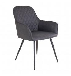 Harbo Spisebordsstol - Grå/Sort