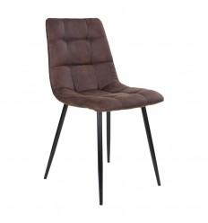 Middelfart Spisebordsstol - Mørk brun/sort