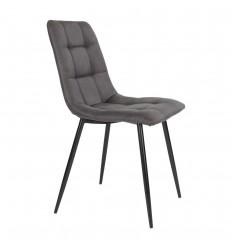 Middelfart Spisebordsstol - Mørkegrå/sort