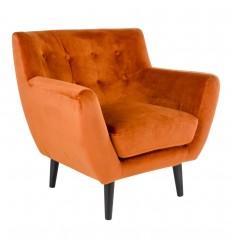 Monte Lænestol - Brændt orange velour