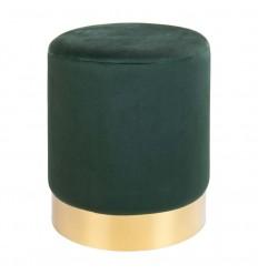 Gamby Puf - Mørkegrøn Velour