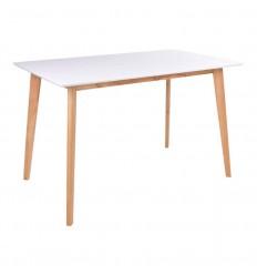 Vojens Spisebord - 70x120 - Hvid/Natur