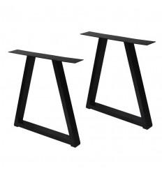 Bordben i Aluminium - Trapez - 2 stk. - Sort