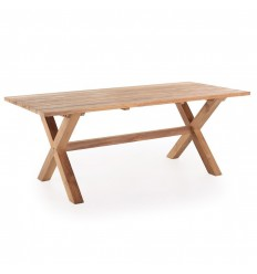 Teak Plankebord m/krydsben - 90x200 cm
