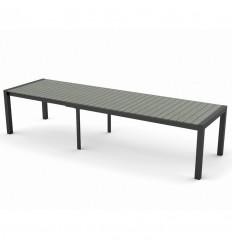 Janus Udtræksbord - 100 x 224/284/344 cm - Grå