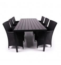 Charlie Milla Havemøbelsæt - 90x205 cm - Sort