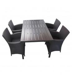 Chico Milla Havemøbelsæt - 90x150 cm - Sort
