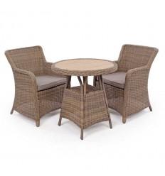 Vista Cafesæt m/2 spisestole - Ø70 cm - Dusty