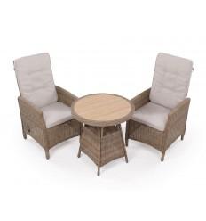 Vista Cafesæt m/2 pos stole - Ø70 cm - Dusty
