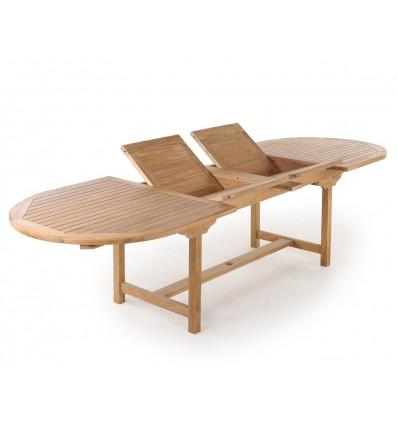Almina Teak udtræksbord - 100x200/250/300 cm