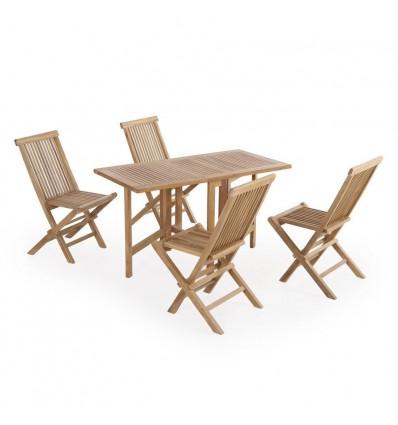Thurø Teak Havemøbelsæt m/4 Bonn stole