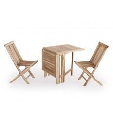 Strandby Teak Cafesæt - 65 x 130 cm