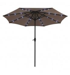 Parasol m/lys og solar - Ø 3 meter