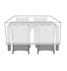 Overtræk til bord med 4 stole - 130x170 cm
