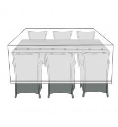 Overtræk til bord med 6 stole - 130x220 cm