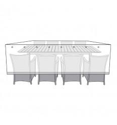 Overtræk til bord med 8 stole - 145x300 cm