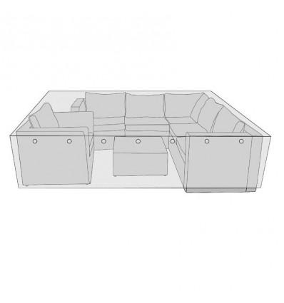 Overtræk til modulsofasæt - 260x260 cm