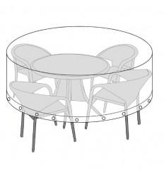 Overtræk til rundt bord - Ø180 cm