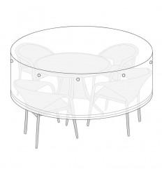 Overtræk til rundt bord - Ø220 cm