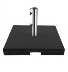 Parasolfod m/hjul - 60 kg - Sort granit