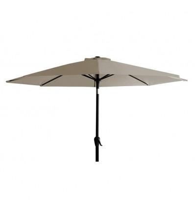 Alu parasol m/tilt - Ø 3 meter - Taupe