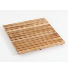 Bademåtte - Teak - 50 x 50 cm