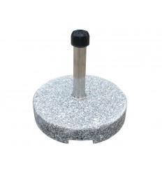 Parasolfod m/hjul - 35 kg - Grå Granit