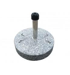 Parasolfod u/hjul - 50 kg - Grå Granit