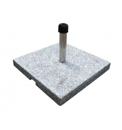 Parasolfod m/hjul - 60 kg - Grå granit