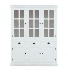 Hvidt vitrineskab med 3 døre i lækker kvalitet