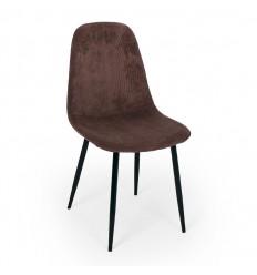 Bodo Spisebordsstol - Mørk Brun Fløjl
