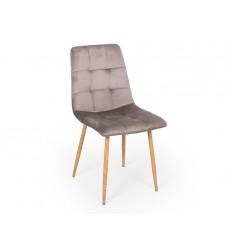 Stani Spisebordsstol - Lys grå velour