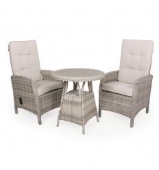 Vista Cafesæt m/2 pos stole - Ø70 cm - Lys Grå