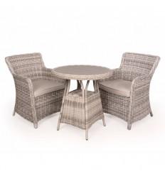 Vista Cafesæt m/2 spisestole - Ø70 cm - Lys Grå