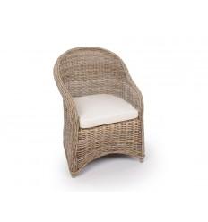 Milano spisebordsstol i flettet rattan - klassisk stol i tidsløst design